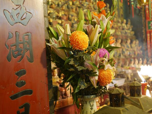 flowers in Kwun Yum Temple