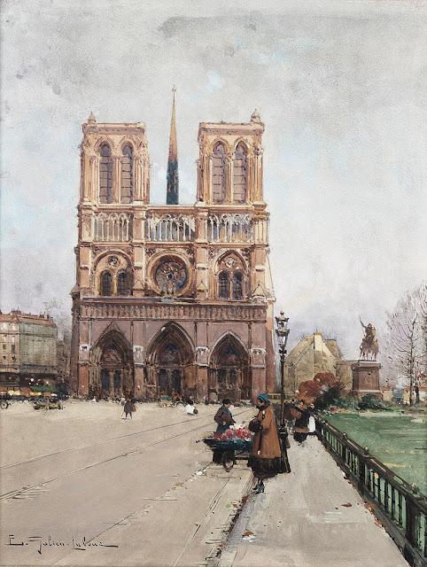 Eugène Galien-Laloue - Paris Notre-Dame Flower-Lady