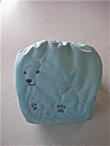 """""""Polar Bear, Polar Bear What do you Hear?"""" OS pocket diaper"""