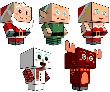 2011 Cubeecraft Christmas Paper Toys