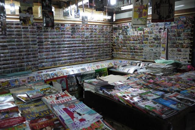 magazines for sale at Bazaar Baru Chow Kit in Kuala Lumpur, Malaysia