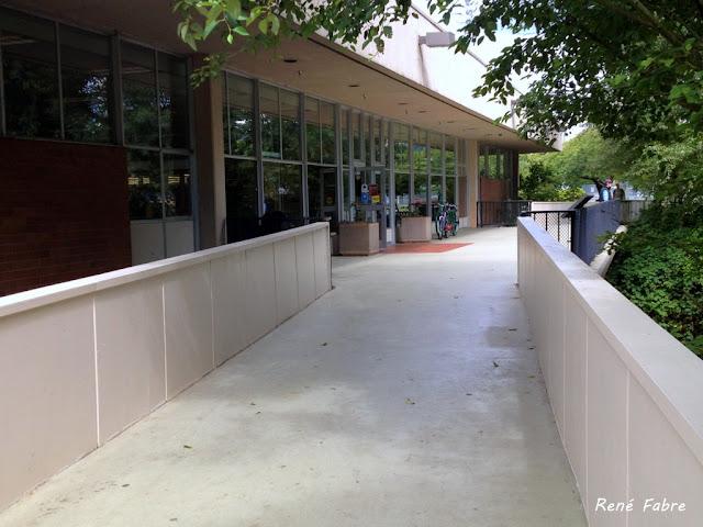 Renton Public Library, front entrance.