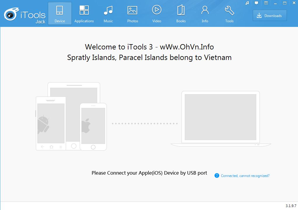 Tải iTools 3.1.9.7 tiếng Việt và tiếng Anh hỗ trợ iOS 8.4