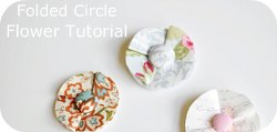 Thumbnail image for Tutorial ~ Folded Circle Flower