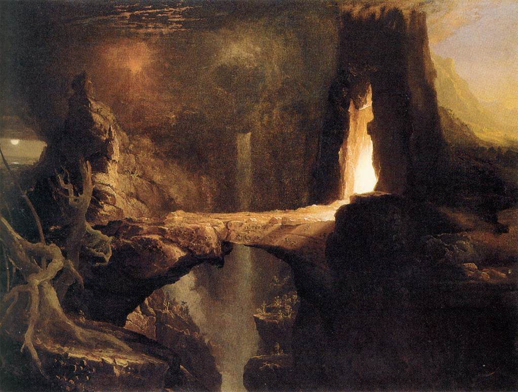 Thoughts In Perspective Expulsion From The Garden Of Eden By Thomas Cole
