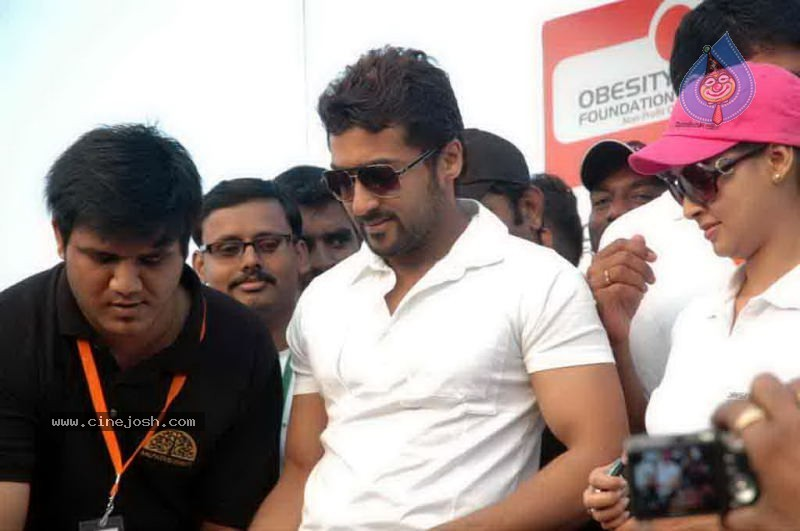 All About Surya Only About Surya: Only Surya: Surya And Pooja At Obesity Day Awarness