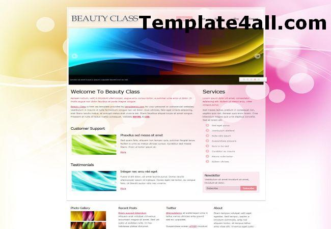 Beauty Pink Grunge HTML Website Template