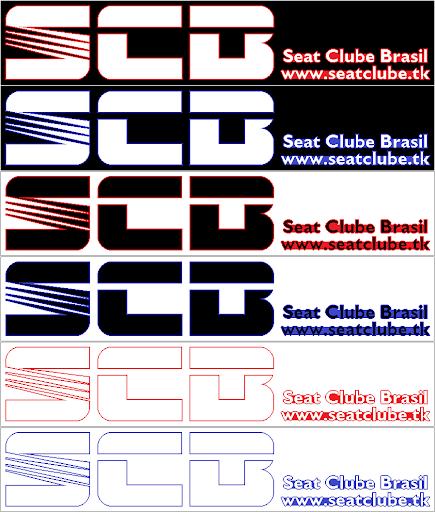 SUGESTÕES DE ADESIVOS SCB
