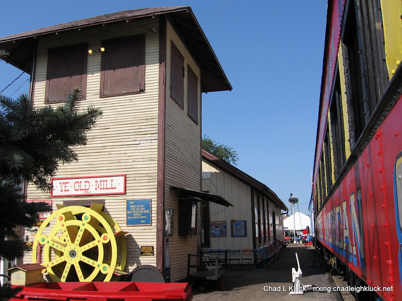 Yard Tower, Depot Museum, and Train Car at Heritage Square