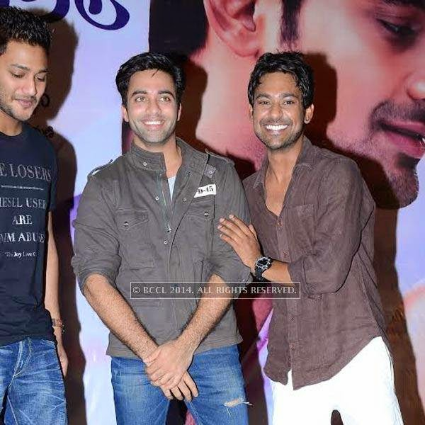 Navdeep and Varun during a filmy event held in Hyderabad.