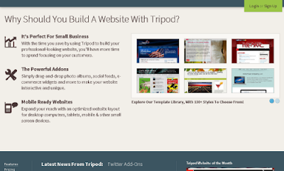 Trypod.lycos.com free online website builders