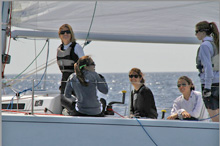 J/80 women's sailing team - training