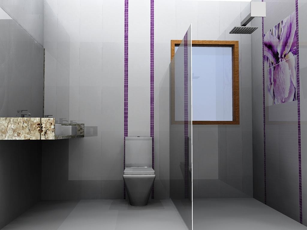 Estas imagens correspondem a um projeto executado na cidade de Nova  #614730 1024x768 Banheiro Azulejo Pastilha