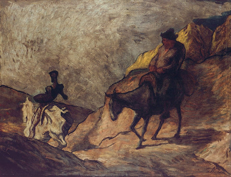 Honoré Daumier - Don Quichotte et Sancho Pansa - Google Art Project