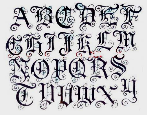Alphabet Letters A Z Variation In Paper At Graffiti Art
