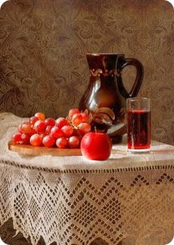 яблочно-виноградный напиток