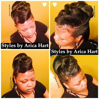 Updo hair styles by Arica Hart, hair stylist , hair salon, beauty salon, hair care
