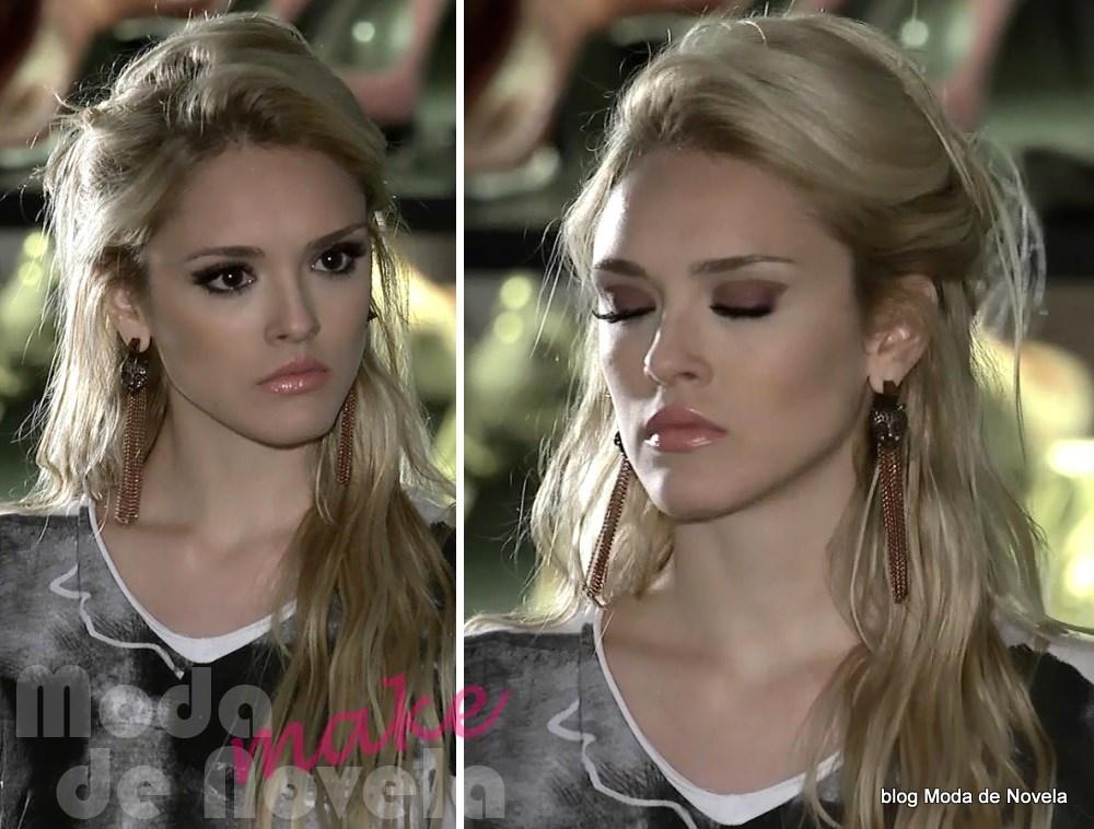 moda da novela Geração Brasil - maquiagem da Megan dia 7 de maio