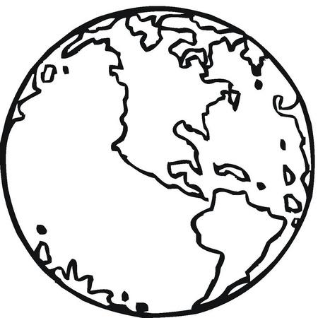 Dibujos de bola del mundo para colorear - Imagui