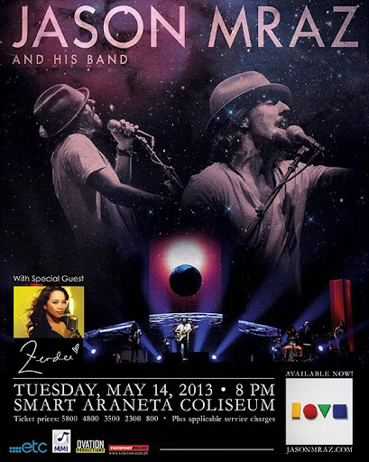 Jason Mraz Tour 2013 Live in Manila