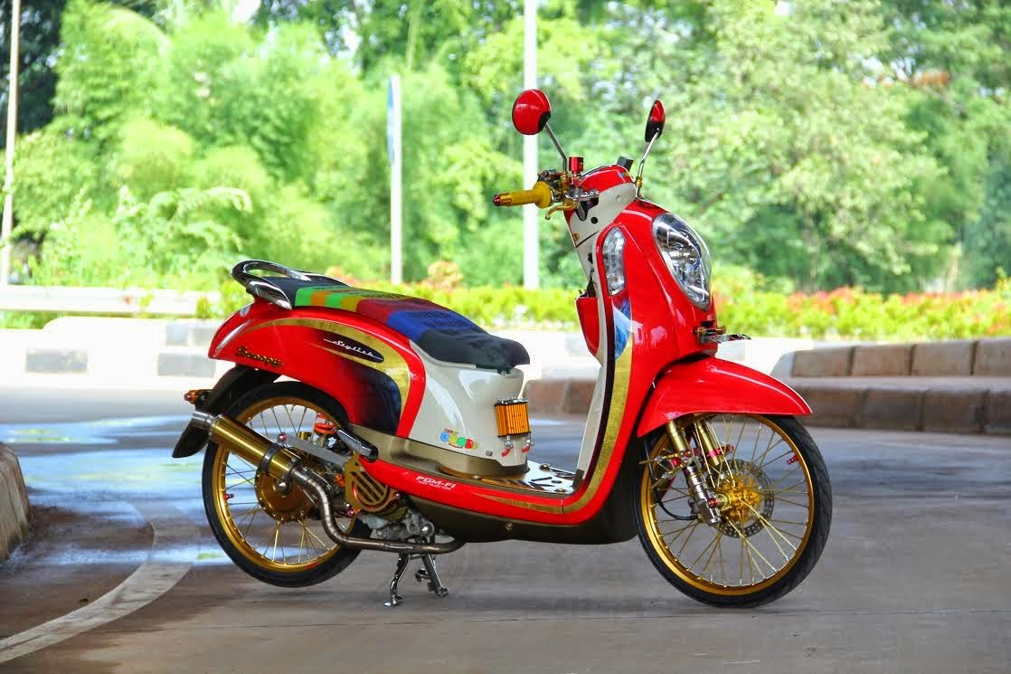 modifikasi scoopy f1