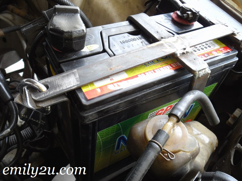 rampant car battery theft
