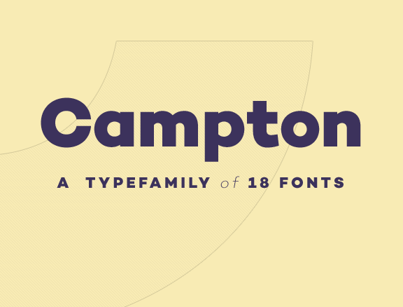 Campton Typefamily Free Fonts