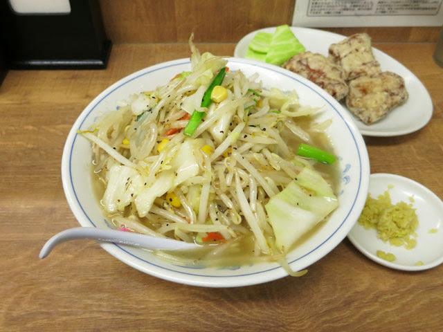 タンメンと唐揚げセットのタンカラ