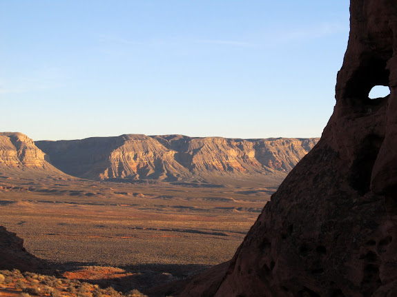 View from camp toward the Hurricane Cliffs