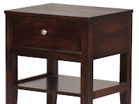 Maple Nightstands with Shelves