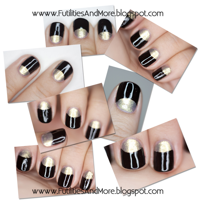 Black And Gold Nail Polish Tutorial, Elf Nail polish, Nail polish, vernis a ongles noir, vernis a ongles or, asian beauty, korean, makeup asian blog, makeup blog, monolid, single lid, asian hair, black hair, light brown, futilitiesandmore.blogspot.com, futilities and more, futilitiesandmore, monolid, asian beauty, asian, makeup review, make up, makeup, cosmetics, maquillage, fond de teint, korean cosmetic