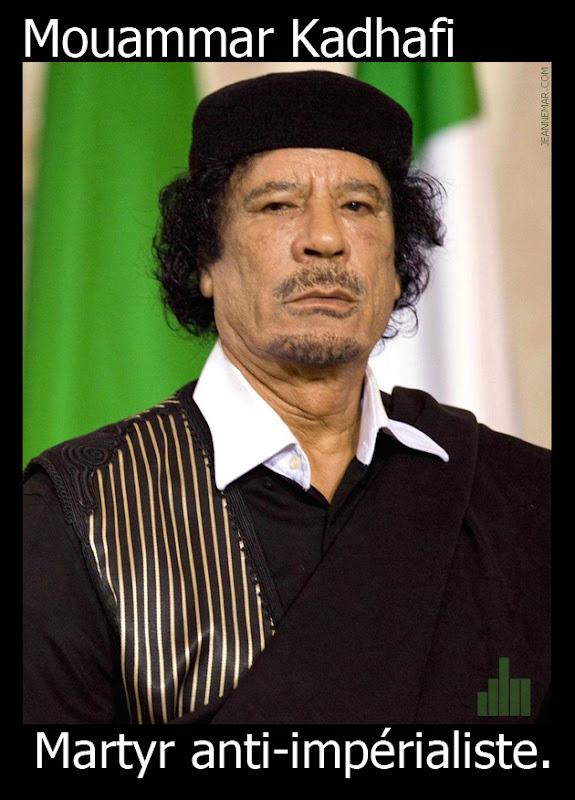 Mouammar Muhammad Abou Minyar al-Kadhafi - martyr anti-impérialiste - Jean Némar