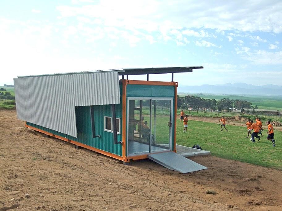 Za architecture safmarine container sports centre - Container homes cape town ...
