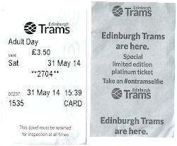 Edinburgh tram tickets