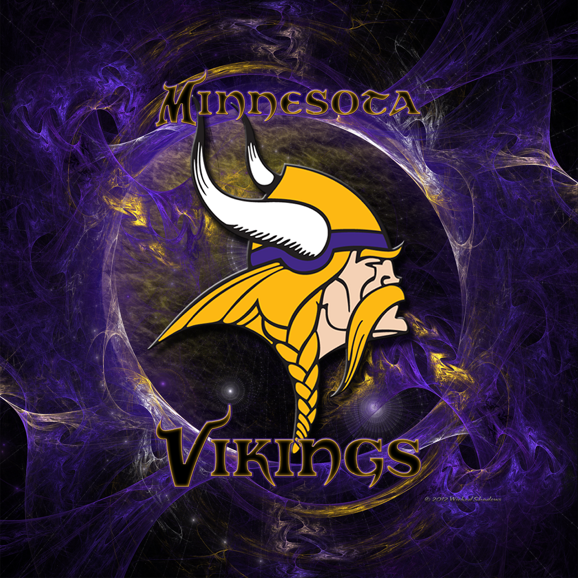 7 Hd Minisota Vikings 3d Logo Wallpapers By Wicked