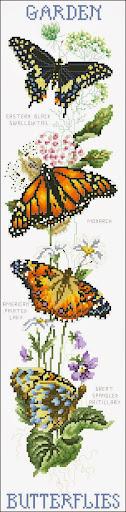 Garden Butterfly cross stitch pattern