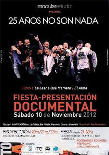 """Fiesta presentación documental: """"25 años no son nada"""""""