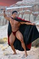 Hot Male Bodybuilders as Warriors
