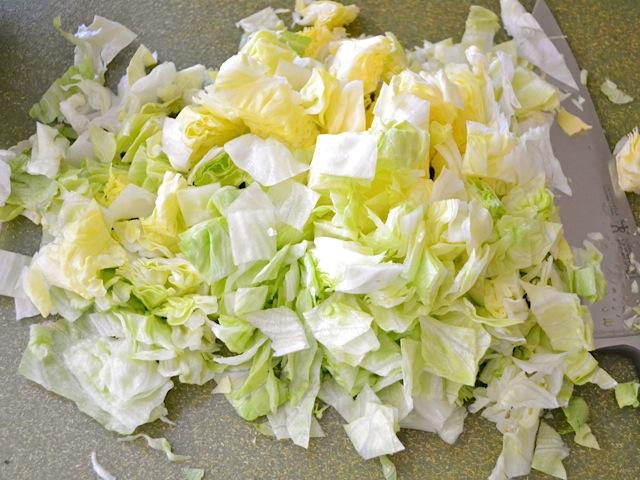 chop lettuce