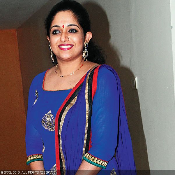 Kavya Madhavan during Vinu Mohan, Vidya's wedding reception held in Kerala.