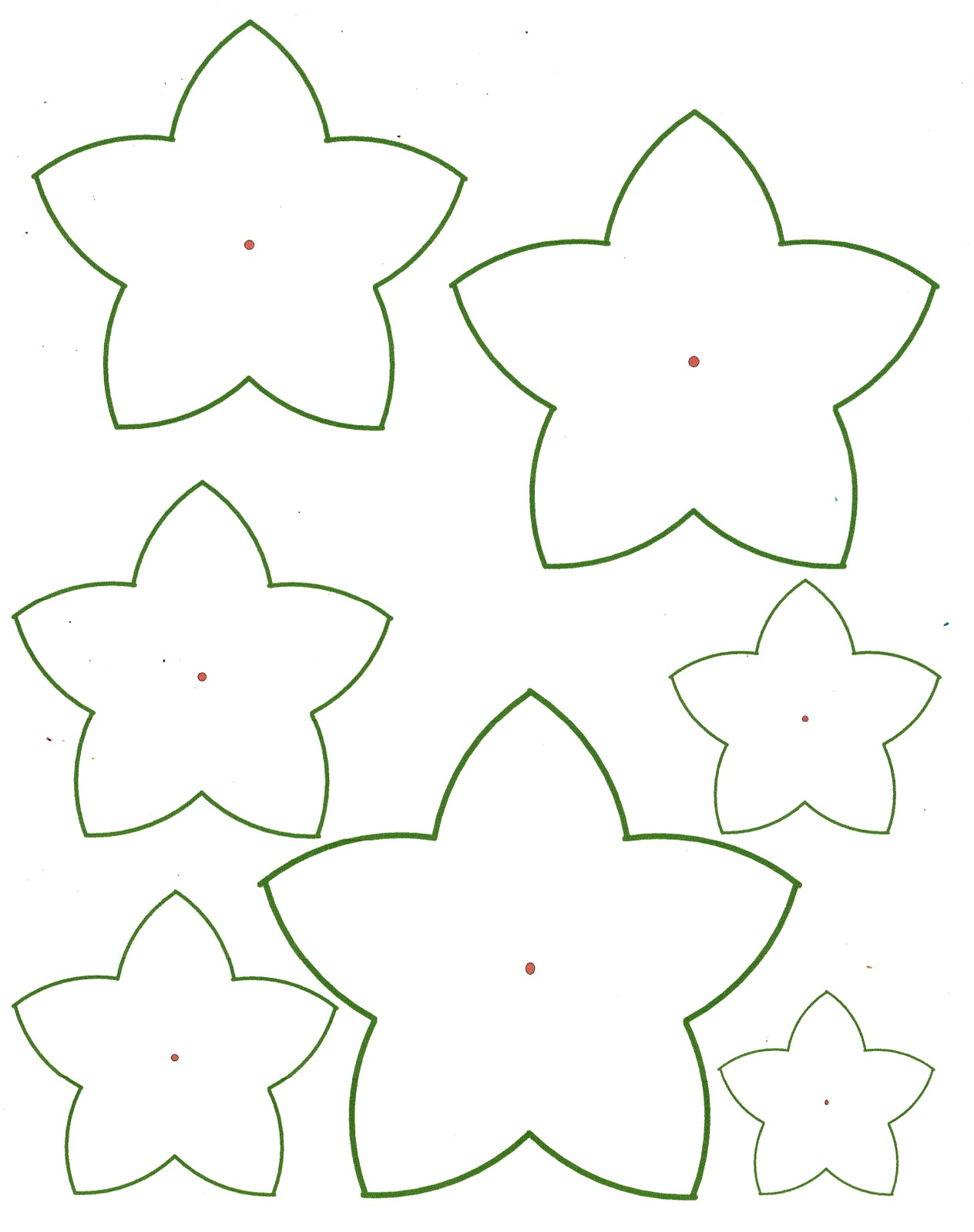 Tactueux image pertaining to printable paper flower templates