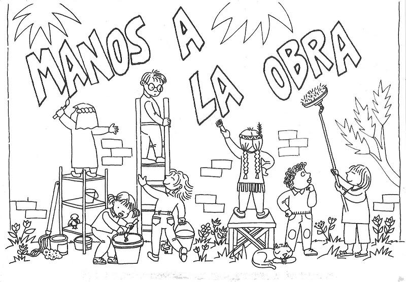 Dibujos para colorear ayudando al projimo - Imagui