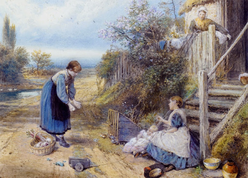 Myles Birket Foster - Playing With Baby