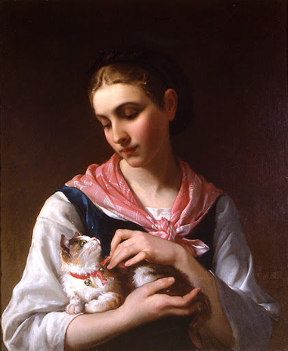 Émile Munier - The Favorite Kitten