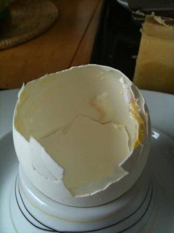 löskokt ägg