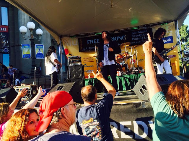 #June 13, 2014: Redwood City, CA at the Music on the Square. We rocked it for more than 6,000 fans.