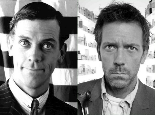 Hugh Laurie actor as Bertie Wooster and as Doctor House