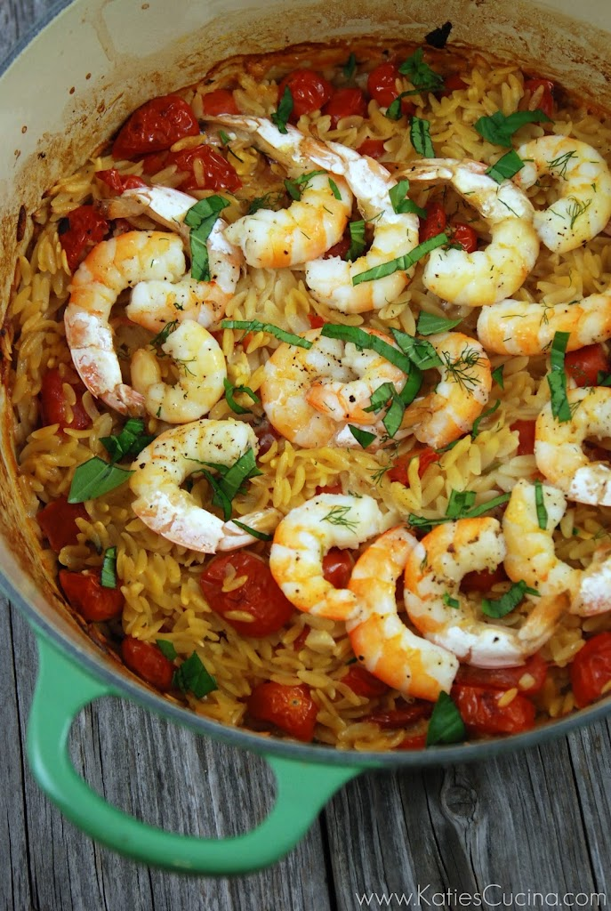 Shrimp and Orzo - Katie's Cucina
