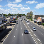 Walking over Pennant Hills Rd (395141)