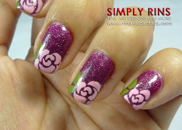 Rose Nail Art Design